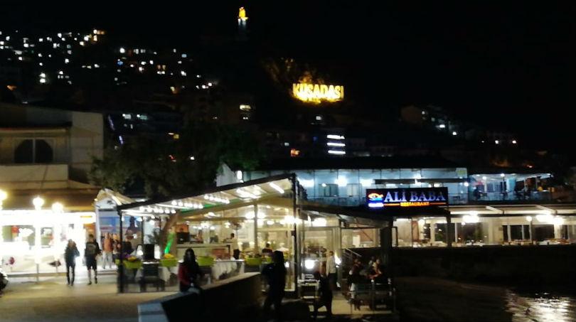 Город Kusadasi ночью