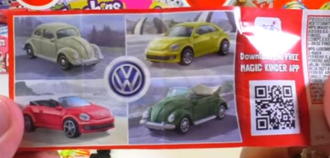 Коллекция машинок из киндера Volkswagen Käfer