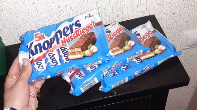 Шоколадки Кnoppers в упаковке