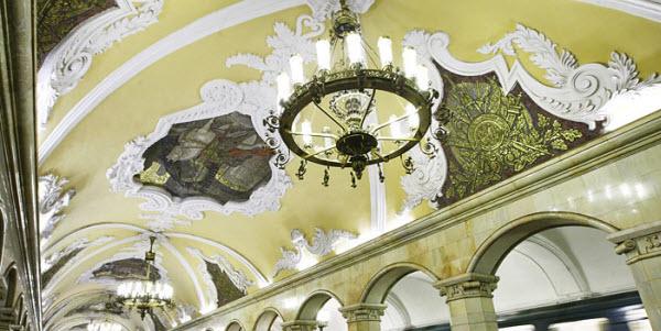 5 самых красивых старых станций метро Москвы, Комсомольская