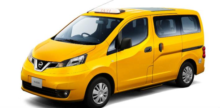 Такси желтое минивэн