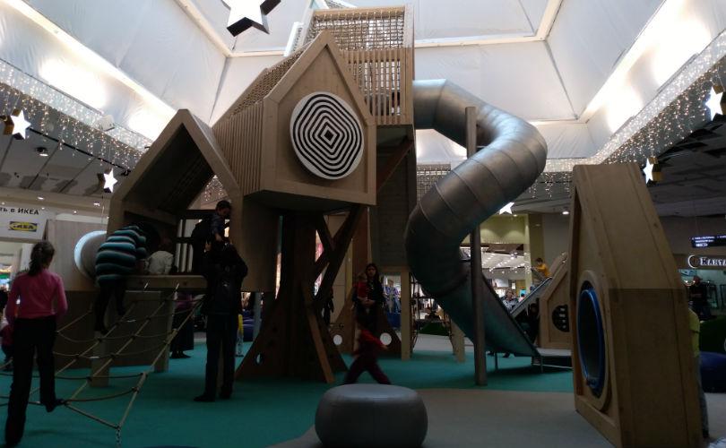 Новая красивая детская площадка МЕГА фото
