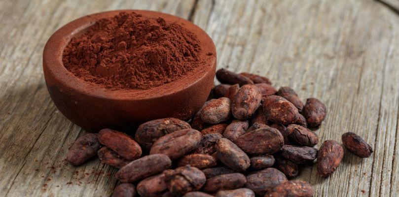 Перетертые какао бобы